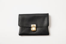 Load image into Gallery viewer, Small Wallet - Black Leather