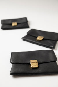 Small Wallet - Black Leather