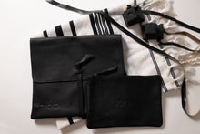 Load image into Gallery viewer, Tallit & Tefillin - Black Leather