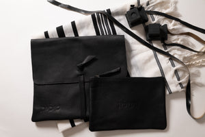 Tallit & Tefillin - Black Leather