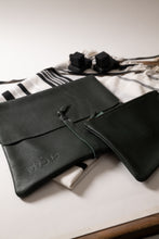Load image into Gallery viewer, Tallit & Tefillin - Dark Green Leather