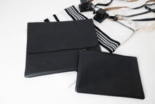 Load image into Gallery viewer, Tallit & Tefillin - Black Vegan
