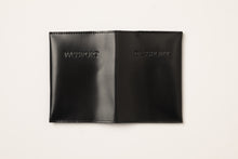 Load image into Gallery viewer, Passport Cover + Card Holder-shiny black leather