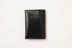 Passport Cover- shiny black