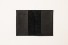 Load image into Gallery viewer, Passport Cover + Card Holder- black leather