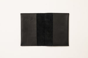 Passport Cover + Card Holder- black leather