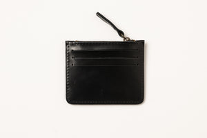 Card Holder- black shiny leather