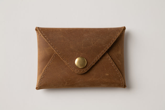 Mini wallet-brown leather
