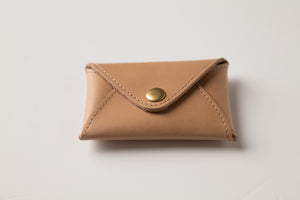 Mini Wallet - Nude Leather