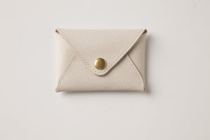 Mini wallet-stone leather