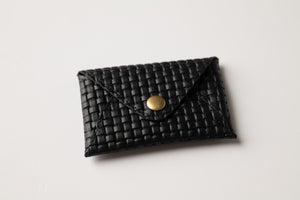 Mini Wallet - Black With Texture Leather