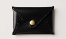 Load image into Gallery viewer, Mini wallet-shiny black leather