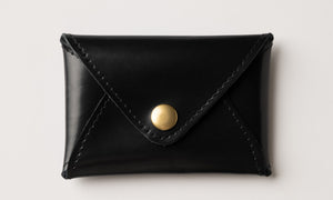 Mini Wallet - Shiny Black Leather