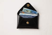 Load image into Gallery viewer, Mini Wallet - Shiny Black Leather