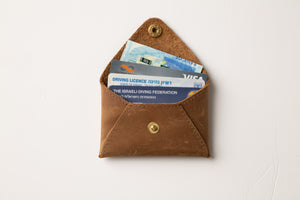 Mini Wallet - Brown Leather