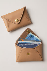 Mini wallet-nude leather