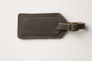 Luggage Tag - Gray Leather