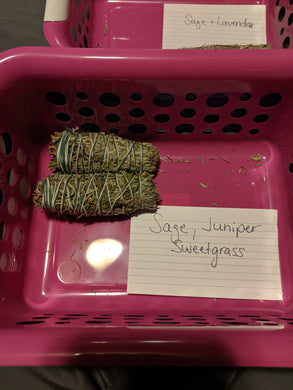 Sage, Juniper, & Sweetgrass Smudge Bundle-Small-Bulk