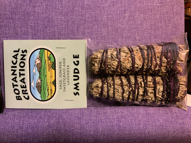 Sage, Juniper, Sweetgrass, & Lavender Smudge Bundle-Small-2 pack