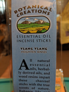 Botanical Creations-Ylang Ylang Incense Sticks-20 sticks