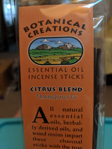 Botanical Creations-Citrus Blend Incense Sticks-20 sticks