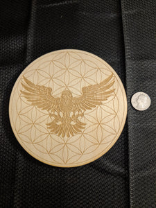 Eagle Wisdom Crystal Grid-6 inch