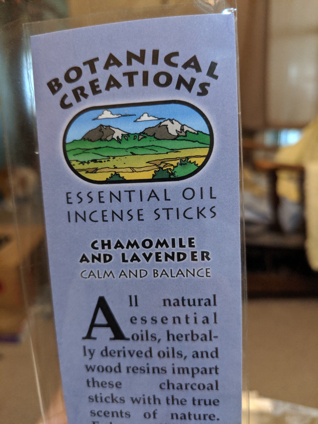 Botanical Creations-Chamomile/Lavender Incense Sticks-20 sticks