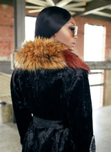 Load image into Gallery viewer, Detachable Faux Fur Collar Leatherette Coat
