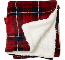 Load image into Gallery viewer, PLAID SHERPA BLANKET