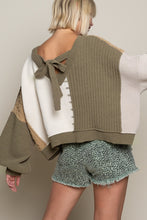 Load image into Gallery viewer, ALMOND/OLIVE MULTI SWEATER SWEATER