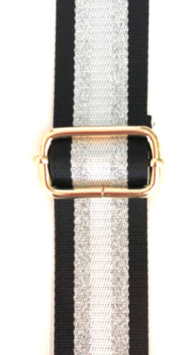 Metallic Stripe Adjustable Bag Straps