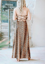 Load image into Gallery viewer, Snake Print Cross-Back Maxi Dress