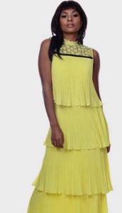 Lov Yellow Pleated Dress