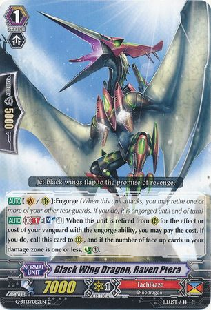 Black Winged Dragon, Raven Ptera - G-BT13/082EN - C