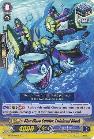 Blue Wave Soldier, Twinhead Shark - G-BT13/110EN - C