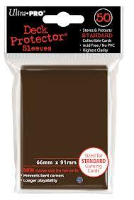 Brown 50ct Standard Sleeves Ultra-Pro