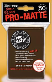 Brown MATTE 50ct Standard Sleeves Ultra-Pro