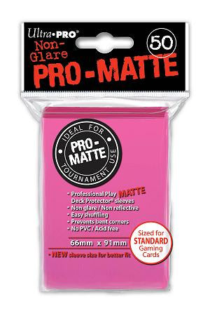 Bright Pink MATTE 50ct Standard Sleeves Ultra-Pro
