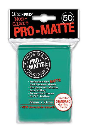 Aqua MATTE 50ct Standard Sleeves Ultra-Pro