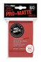 Red MATTE 60ct Small Sleeves Ultra-Pro