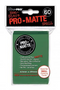 Green MATTE 60ct Small Sleeves Ultra-Pro