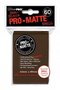 Brown MATTE 60ct Small Sleeves Ultra-Pro