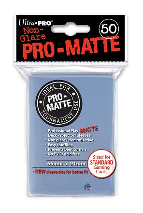 Clear MATTE 50ct Standard Sleeves Ultra-Pro