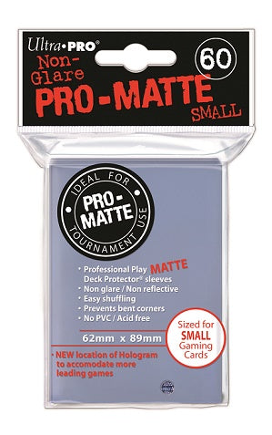 Clear MATTE 60ct Small Sleeves Ultra-Pro