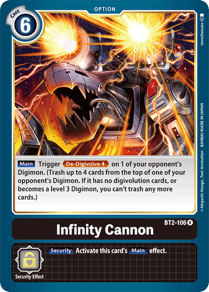 Infinity Cannon - BT2-106 - R