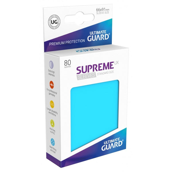 Ultimate Guard Supreme 60ct - Small Sleeves - Light Blue