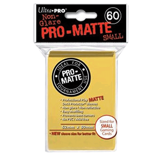 Bright Yellow MATTE 60ct Small Sleeves Ultra-Pro