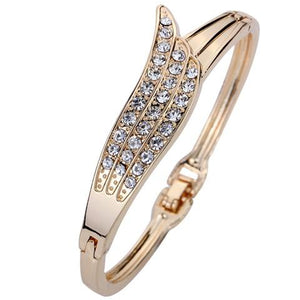 Angel Wings Crystal Bangle