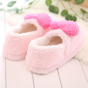 Lovely Ladies Home Floor Soft Slippers Outsole Cotton-Padded Shoes