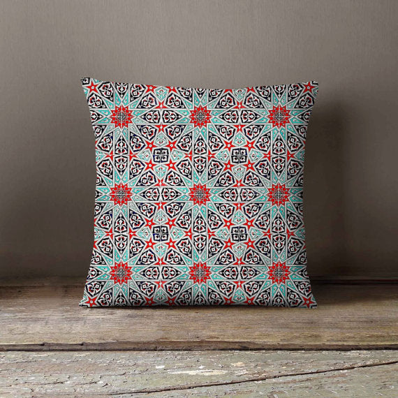 Moteki Morocco Tile Portugal Azulejo Pillowcase hand made moteki cushion-shopsabrinabitton.com